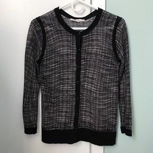 NWOT Ann Taylor Black and White Cardigan Sweater